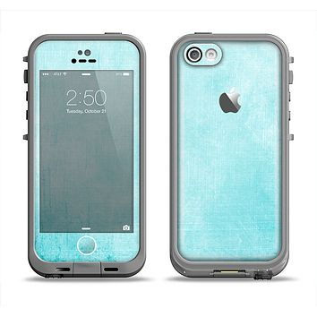 The Vintage Blue Textured Surface Apple iPhone 5c LifeProof Fre Case Skin Set
