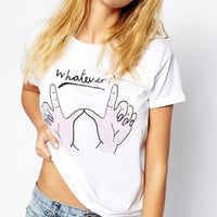 White Whatever Short Sleeve T-Shirt