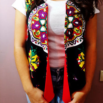 Handmade Fabric Vest - Special Weaving Fabric - Summer Clothes - Double Sided - Colorful Designed - Anatolian Patterns