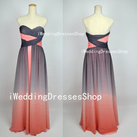 A Line Strapless  Sweetheart Long Chiffon by iWeddingDressesShop