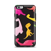 The Vector Neon Dinosaur Apple iPhone 6 Plus Otterbox Symmetry Case Skin Set