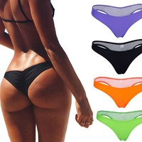 Focussexy Women's Hot Summer Brazilian Beachwear Bikini Bottom Thong Swimwear