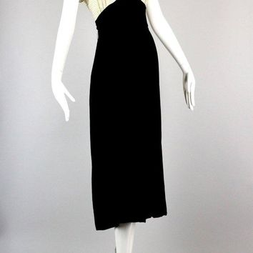 1930s Silk Velvet Evening Dress
