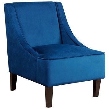 Abbyson Living Carlton Swoop Chair - Dark Blue/Navy