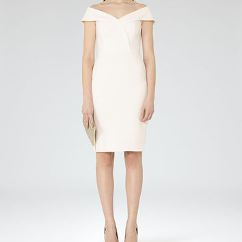 Haddi Off White Off-The-Shoulder Dress - REISS
