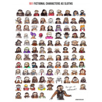 DFTBA Records :: 101 Fictional Characters as Sloths Poster (unsigned)