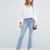 Dr Denim Holly Fitted Crop Flare Jean at asos.com