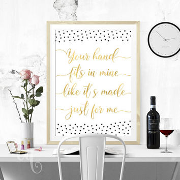 Wall art decor One Direction quote giclée print