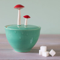 Mushrooms Forage for Sweets Sugar Bowl by ModCloth