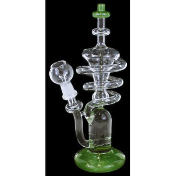 "Tesla Twister - 10"" Recycler Dab Rig"