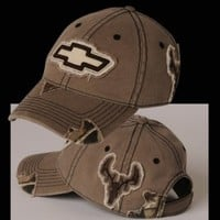 HossRods.com | Chevy Camo Frayed Buck Hat | Hot Rod Accessories, Garage Gear, and More