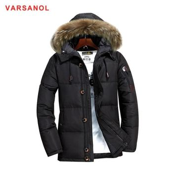 Varsanol Hooded Coat Winter Jackets Man Thickness Down Jacket With Hat Casual Mens Warm Outwear New Arrivals Down Jackets 3XL