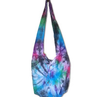 Tie Dye Boho Hobo Hippie Bag Purse Over the shoulder