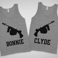 Bonnie & Clyde Partners in Crime Bestie Tanks