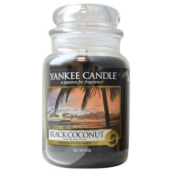 YANKEE CANDLE by  BLACK COCONUT SCENTED LARGE JAR 22 OZ