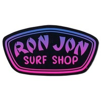 Ron Jon Neon Badge Sticker