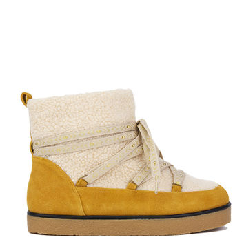 House of Harlow 1960 Sadie Pull On Alpine Boots - Mustard