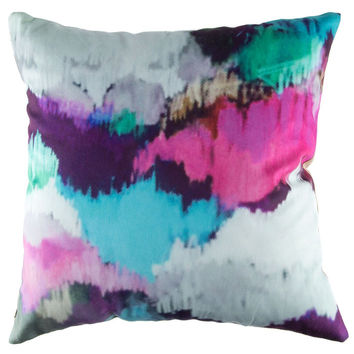 """18"""" x 18"""" Watercolor Pillow Cover 