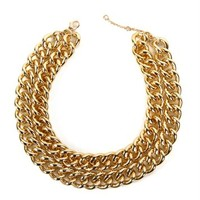 Gold 2 Chain Necklace