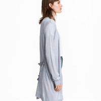 Long Cardigan with Tie Belt - from H&M