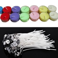 100pcs,White,Quality Candle Wicks Cotton Core Pre-Waxed Sustainers/DIY Making Candles