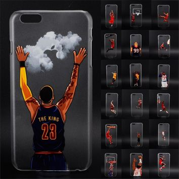 NBA star basketball player phone case for iphone 5 5s 6 6s 7 plus Jordan 23 james hard