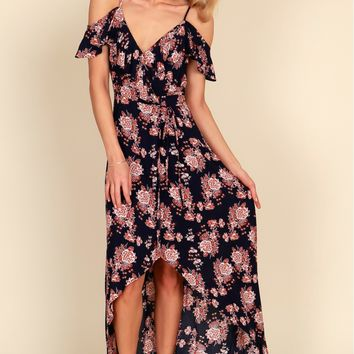 Back To Your Roots Dress Navy