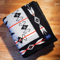 Pendleton ® Blanket, Storm Pattern Grey Blanket
