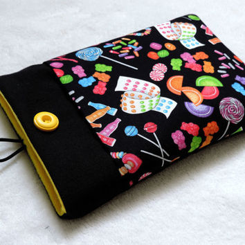 """iPad Mini Case, 7"""" Tablet Sleeve, Kindle Case, Nexus 7 Cover, Nook Color 7 sleeve, Galaxy Tab 7.0 Cover, Kobo Case - jelly babies"""