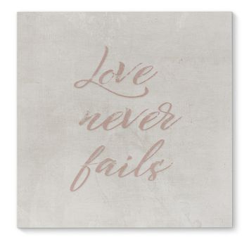 LOVE NEVER FAILS Canvas Art By Terri Ellis