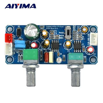 Aiyima  1pcs DC 9-32V Low Pass Filter Bass Subwoofer Pre-AMP Amplifier Board Single Power