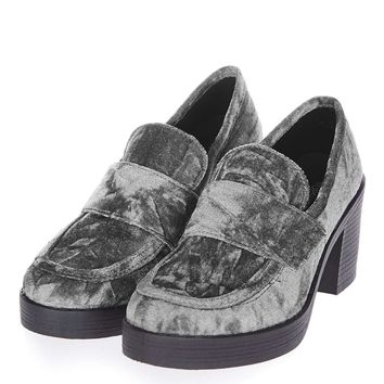 LOVER Velvet Loafers | Topshop