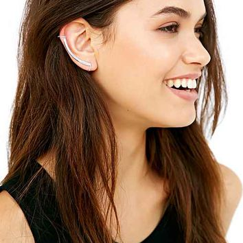 Delicate Bar Ear Climber Cuff Earring