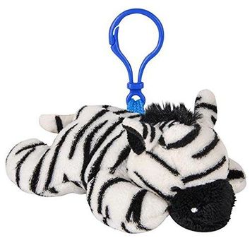 Wildlife Tree Zebra Plush 3.5 Inch Stuffed Animal Backpack Clip Toy Keychain Wildlife Hanger Party Favor Pack of 12