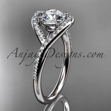 14kt white gold diamond wedding ring, engagement ring ADLR383
