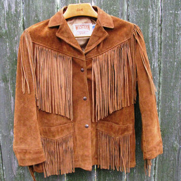 Leather Fringe Jacket, Size, Authentic Made in the USA, Western by Schott, Texas Livestock Show & Rodeo Wear