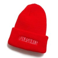Feel My Face Beanie Red