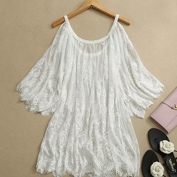 Boho Lace Top / Coverup