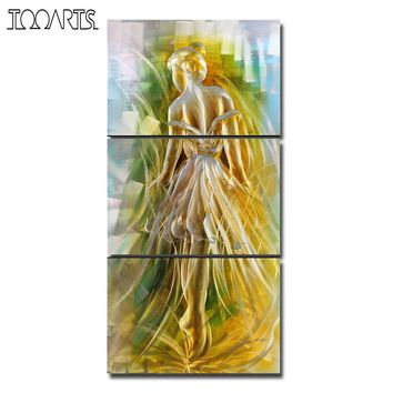 Tooarts Ballet Girl Modern Spray Painting Seascape Wall Art Home Decor Poster Landscape Original Home Decoration Accessories