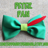 Peter Pan Inspired Disney Bow