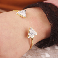 New Arrival Jewelry Shiny Accessory Stylish Geometric Turquoise Bangle [7271665095]