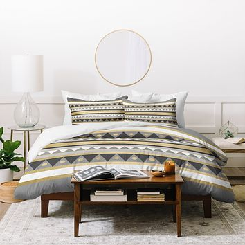 Elisabeth Fredriksson Golden Tribal Duvet Cover