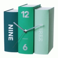 Buy Karlsson Free Standing Books Clock - Green