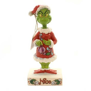 Jim Shore TWO SIDED NAUGHTY NICE GRINCH Polyresin Dr Seuss 6002068