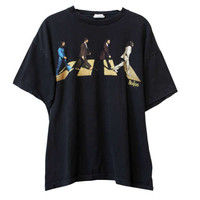 Vintage RARE Abbey Road The Beatles 90s Tee TShirt | Adult Size Large | 1990s Album Cover Shirt