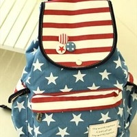 American Flag Strip Star Backpack