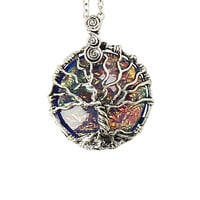 LOVEsick Iridescent Tree Of Life Necklace