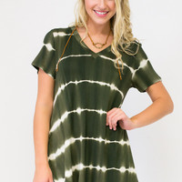 Teasing Tie-Dye Hi-Low Tunic Top