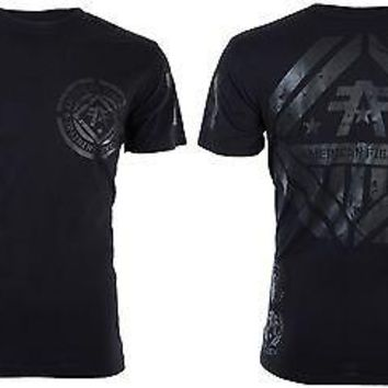 Licensed Official AMERICAN FIGHTER Mens T-Shirt AVERETT Athletic REFLECTIVE Biker Gym MMA UFC $40