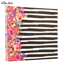 "Floral & Stripes Post Bound Scrapbook Album - 12"" x 12"" 